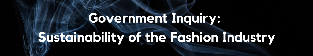 Government Inquiry: Sustainability of the Fashion Industry